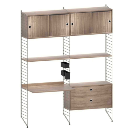 STRING Wall cabinet with desk combination 7