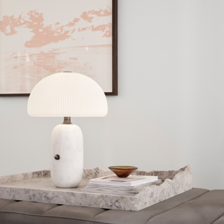 VIPP 591 Sculpture table lamp small - white marble