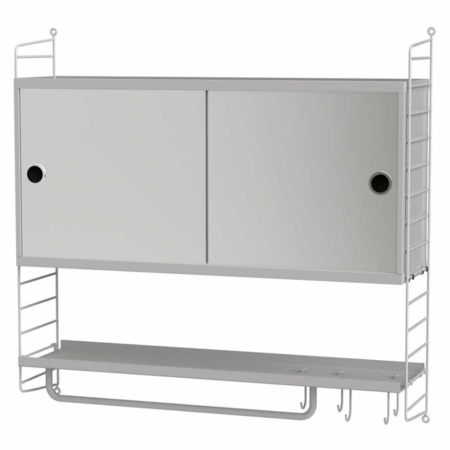STRING bathroom cabinet with mirror combination 2