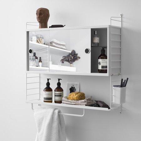 STRING bathroom cabinet with mirror combination 4
