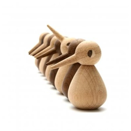 ARCHITECTMADE DESIGN BIRD SMALL GEROOKT EIKEN