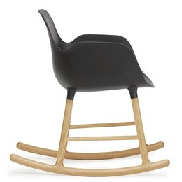 NORMANN COPENHAGEN FORM ROCKING ARMCHAIR, OAK BASE