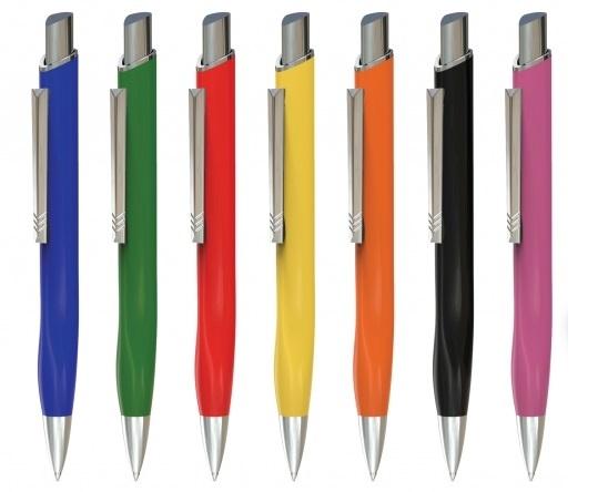 9 Kugelschreiber aus Metall mit Gravur 9 verschiedene Farben