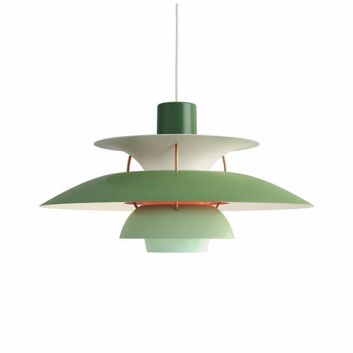 Louis Poulsen PH 5 hanglamp.  Groen