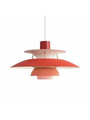 Louis Poulsen PH 5 hanglamp. Rood