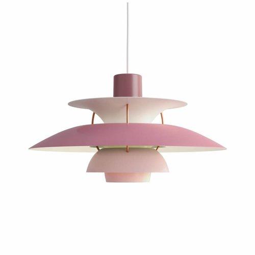 Louis Poulsen PH 5 hanglamp.  Rose