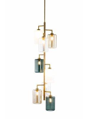 Brand van Egmond Louise achtvoudige hanglamp