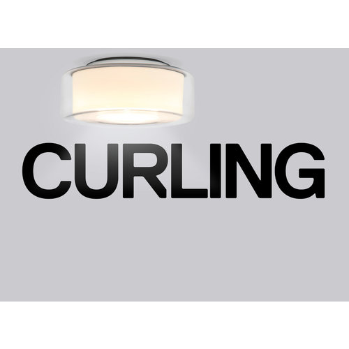 Serien Curling plafondlamp transparant cilinder opaal