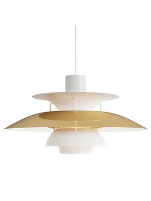 Louis Poulsen PH 5 hanglamp. Messing