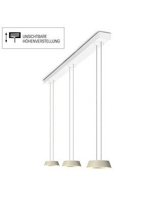 Oligo Glance hanglamp drievoudig met  hoogte verstelling