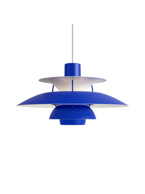 Louis Poulsen PH 5 hanglamp.  Monochrome Blue