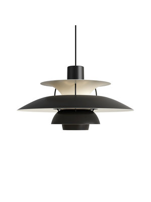 Louis Poulsen PH 5 hanglamp. Monochrome Black