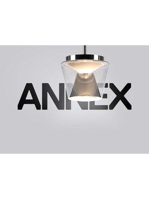 Serien Annex hanglamp: helder/gepolijst Medium