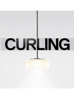 Serien Curling hanglamp: Tube. Opaal. M