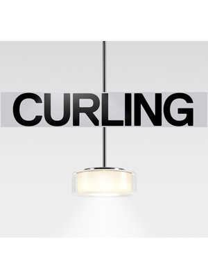 Serien Curling hanglamp: Tube. Transparant/cilinder  opaal. S