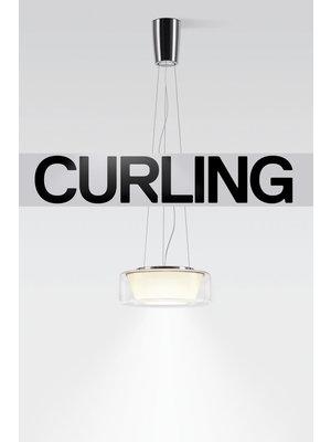 Serien Curling hanglamp. Rope Transparant/conisch  S