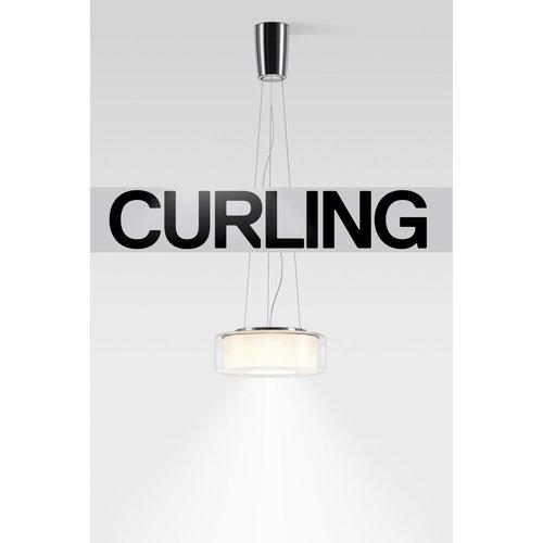 Serien Curling hanglamp: Rope Transparant/conisch L