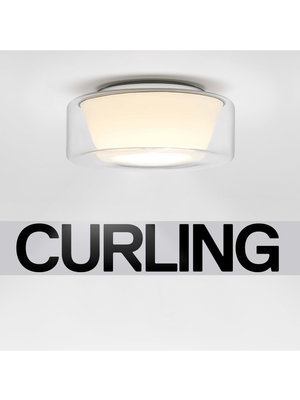 Serien Curling plafondlamp transparant/konisch opaal. S