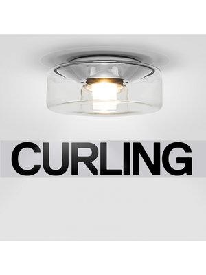 Serien Curling plafondlamp. Transparant. S