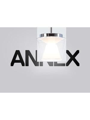Serien Annex hanglamp. Helder/Opaal