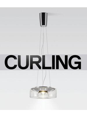 Serien Curling hanglamp: Rope transparant. M