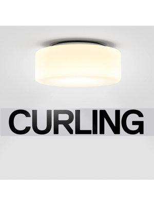 Serien Curling plafondlamp. Opaal M