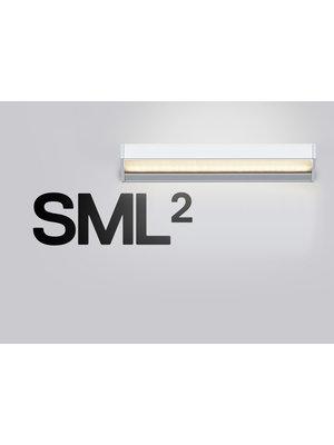 Serien SML² wandlamp. Zilver