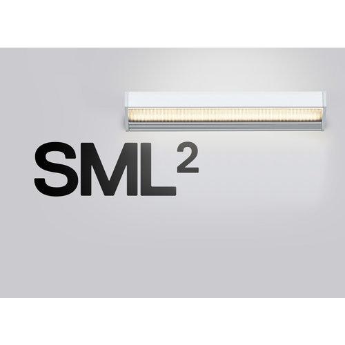 Serien SML² wandlamp. Wit