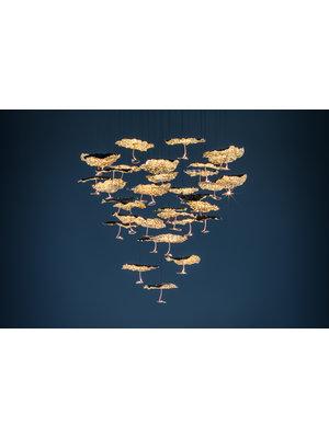 Catellani & Smith Gold Moon Chandelier hanglamp