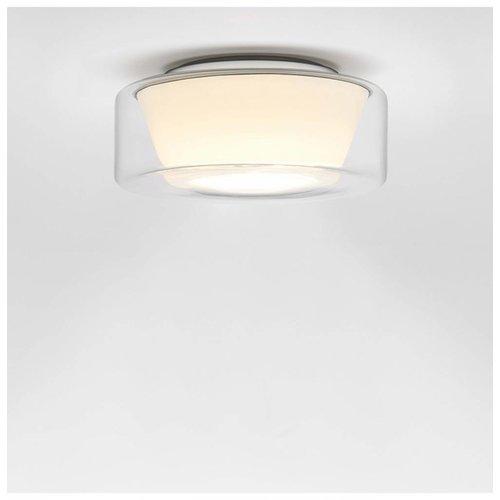 Serien Curling plafondlamp transparant/konisch opaal