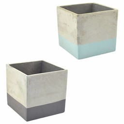 NON. Bloempot Cement 20,5 cm