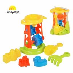 Sunnydays Strandtoren met speeltjes, 6-delig