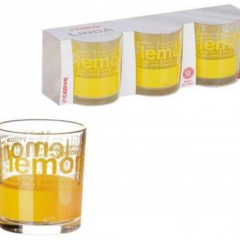 CERVE Drinkglazen LEMON, 220 ml