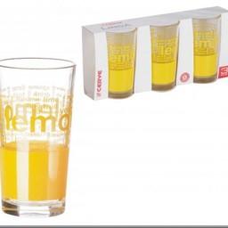 CERVE Longdrinkglazen LEMON, 250 ml