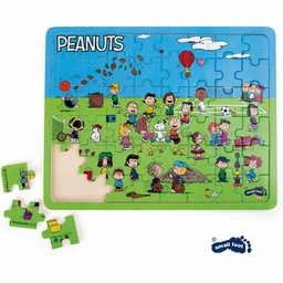 Small Foot Puzzel Snoopy Peanuts Speelweide, 48-delige set.