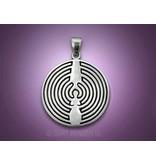 Dearinth labyrint hanger - echt zilver