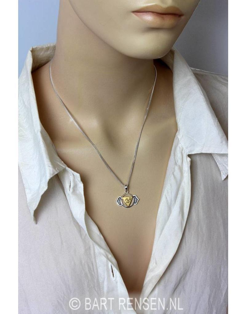 Voorhoofd Chakra hanger - echt zilver