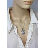Yin Yang hanger met steentjes - echt zilver