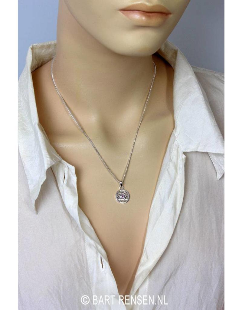 Enneagram hanger met Amethyst - echt zilver