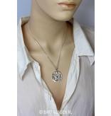 Pentagram Slang hanger - echt zilver