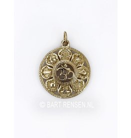 AUM pendant with lucky symbols