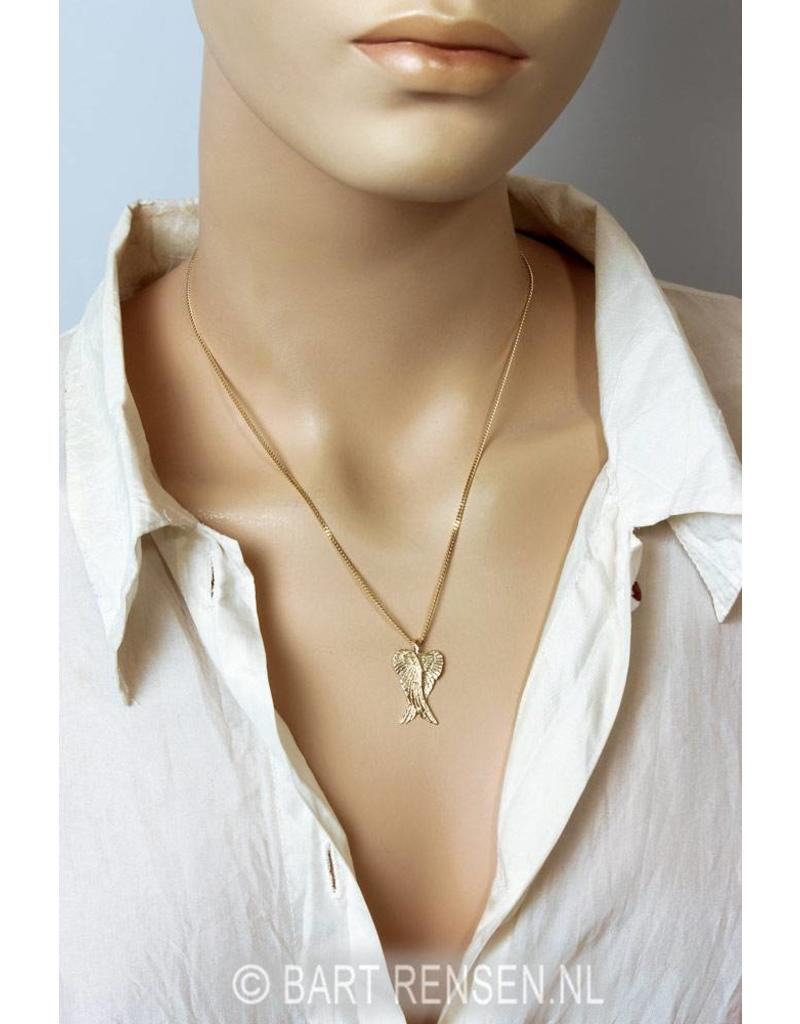 Angel wings pendant - 14 crt gold