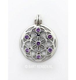 Zilveren Seed of Life hanger - zilver