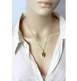 Medaillon hanger - 14 krt goud