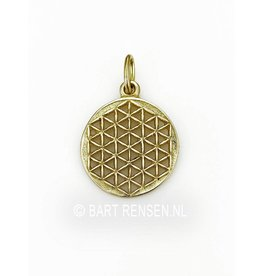 Golden Flower of Life pendant