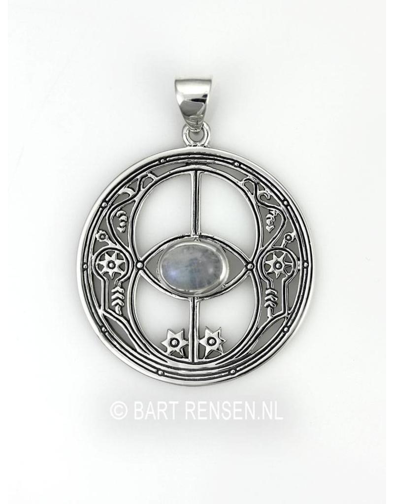 Vesica Pisces pendant - sterling silver