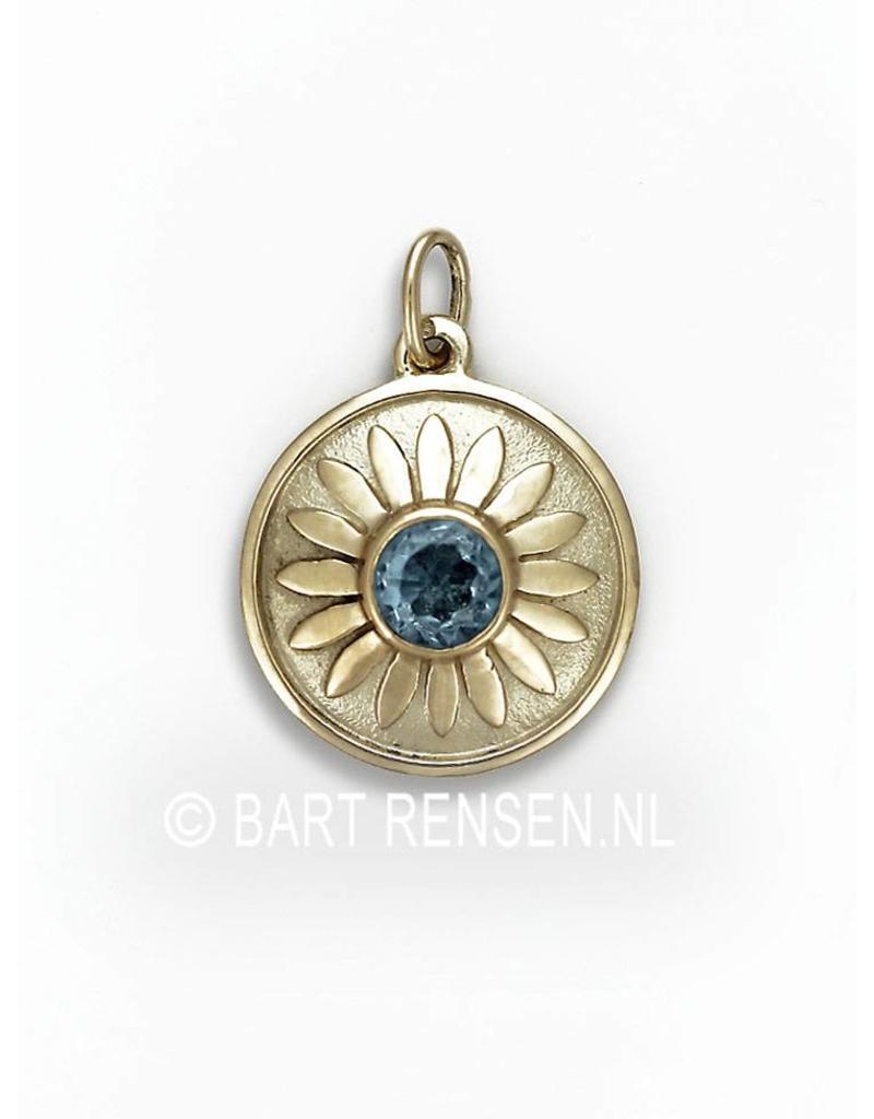 As hanger Lotus - 14 krt goud
