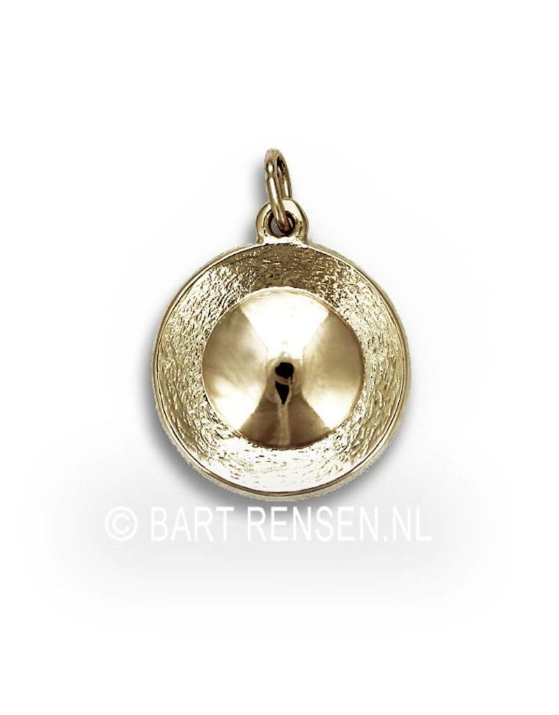 Ash pendant Lotus - 14 crt gold