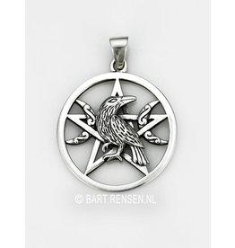 Raven Pentagram Pendant