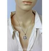 Pentagram Raaf hanger - echt zilver
